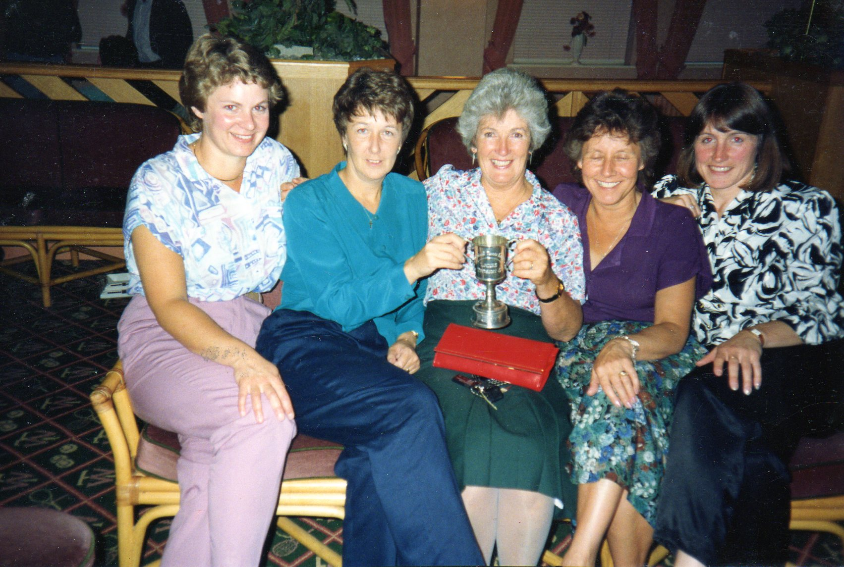 Ladies A Team at Tennis World Presentation Night about 1994